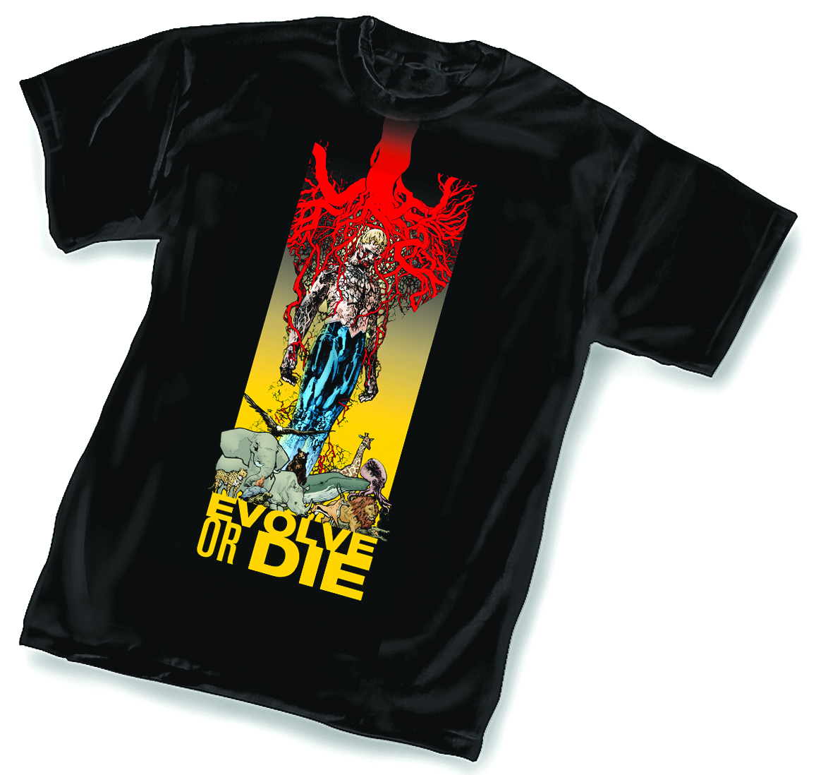 ANIMAL MAN EVOLVE OR DIE BY FOREMAN T/S XL