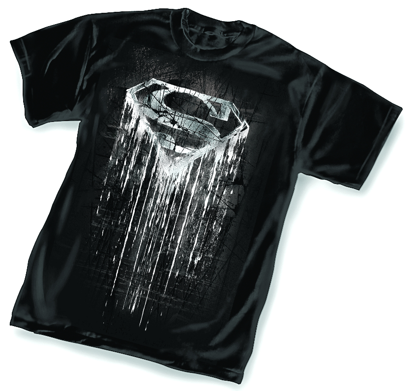 SUPERMAN DARK SYMBOL T/S LG