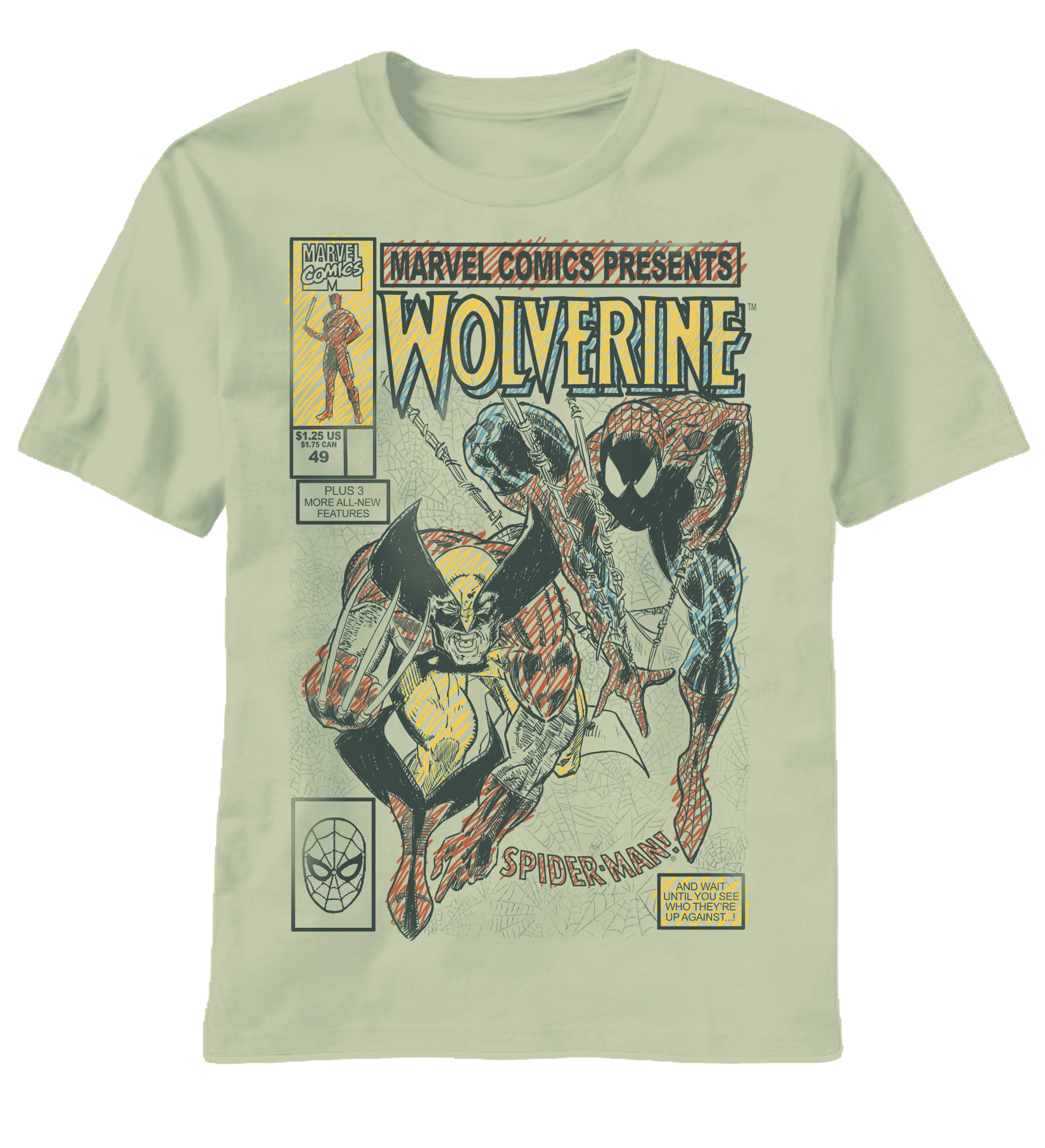 WOLVERINE DRAWN TO COVER SAND T/S MED
