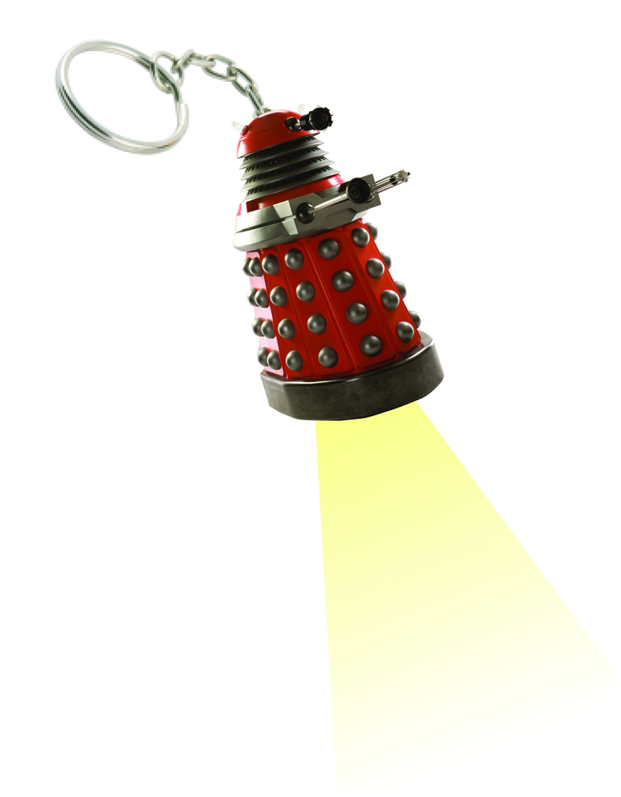 DOCTOR WHO DALEK FLASHLIGHT KEYCHAIN