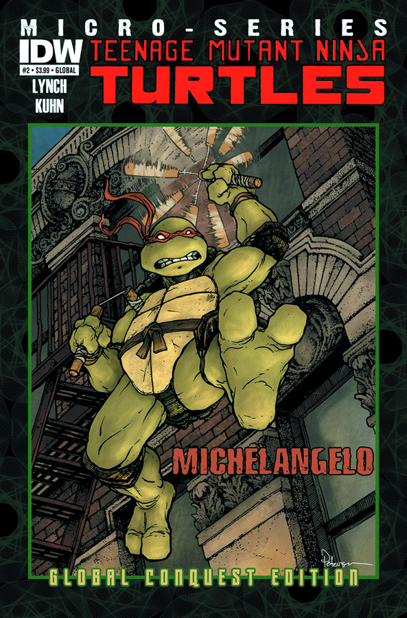 TMNT MICRO SERIES #2 MICHELANGELO GLOBAL CONQUEST ED