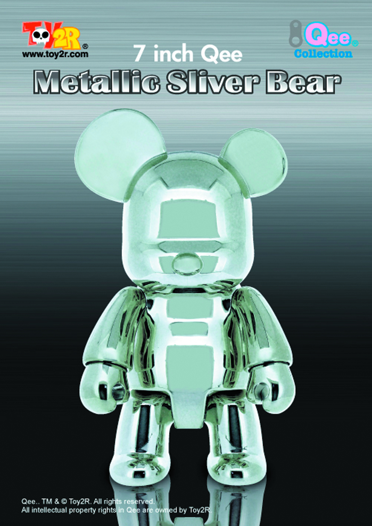 METALLIC SILVER 7IN BEAR QEE VINYL FIG
