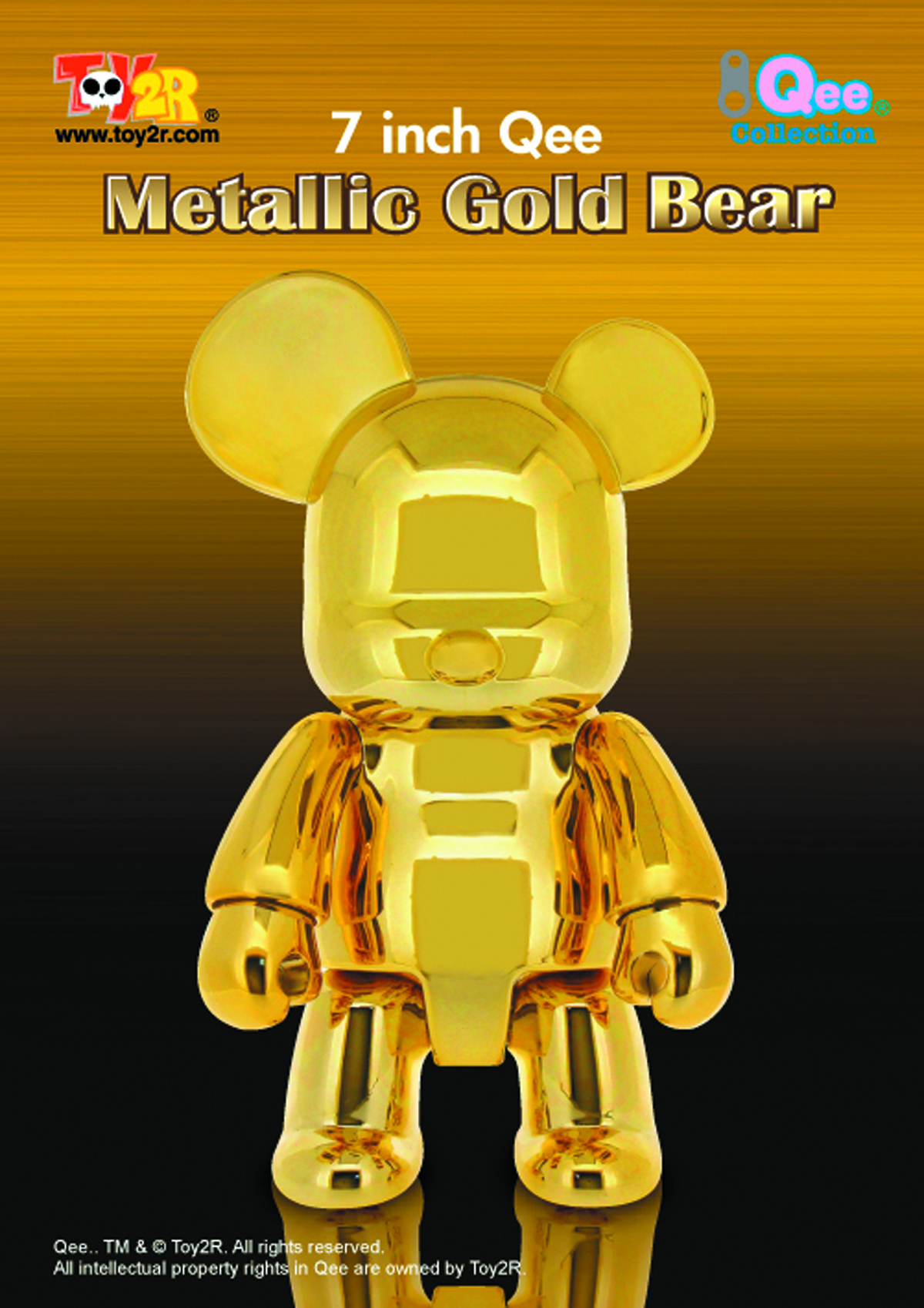 METALLIC GOLD 7IN BEAR QEE VINYL FIG