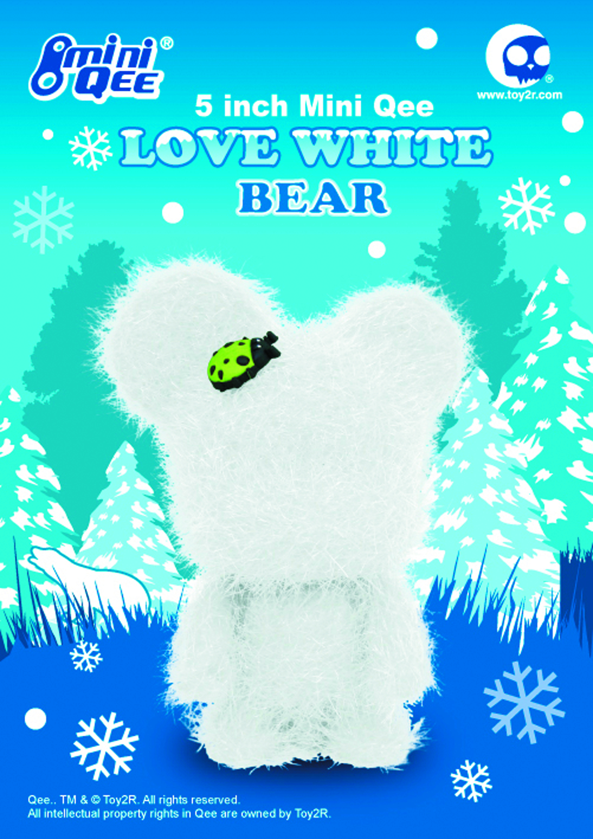 LOVE WHITE 5IN MINI BEAR QEE VINYL FIG