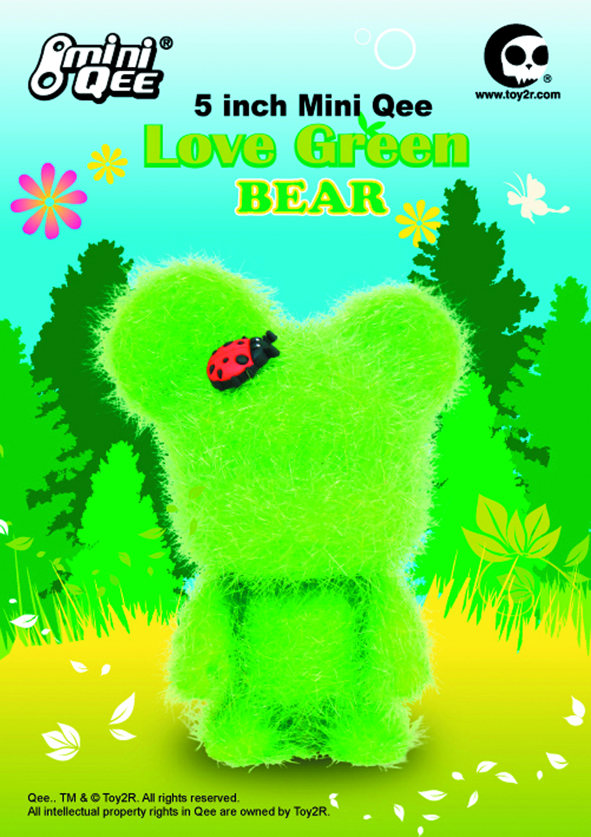 LOVE GREEN 5IN MINI BEAR QEE VINYL FIG