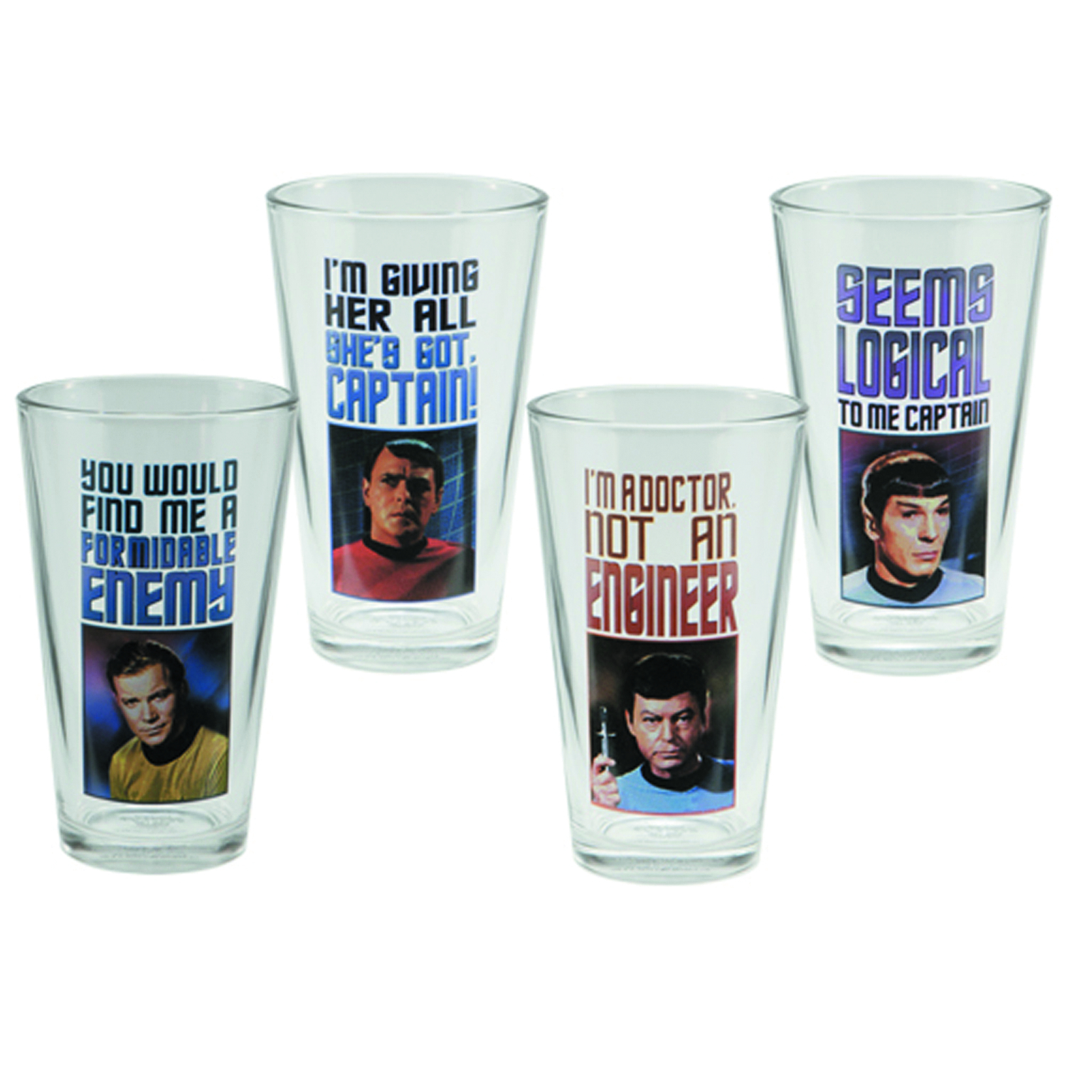 STAR TREK 4PC 16OZ GLASS SET
