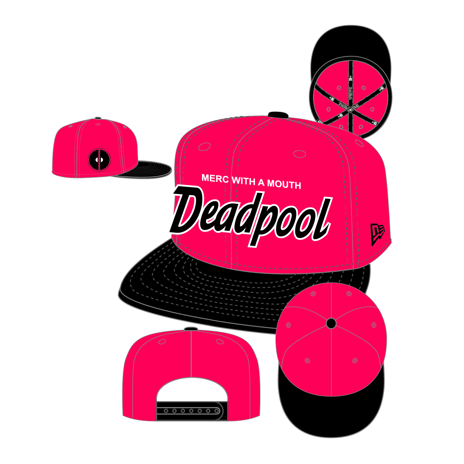 DEADPOOL HERO SCRIPT SNAPBACK CAP