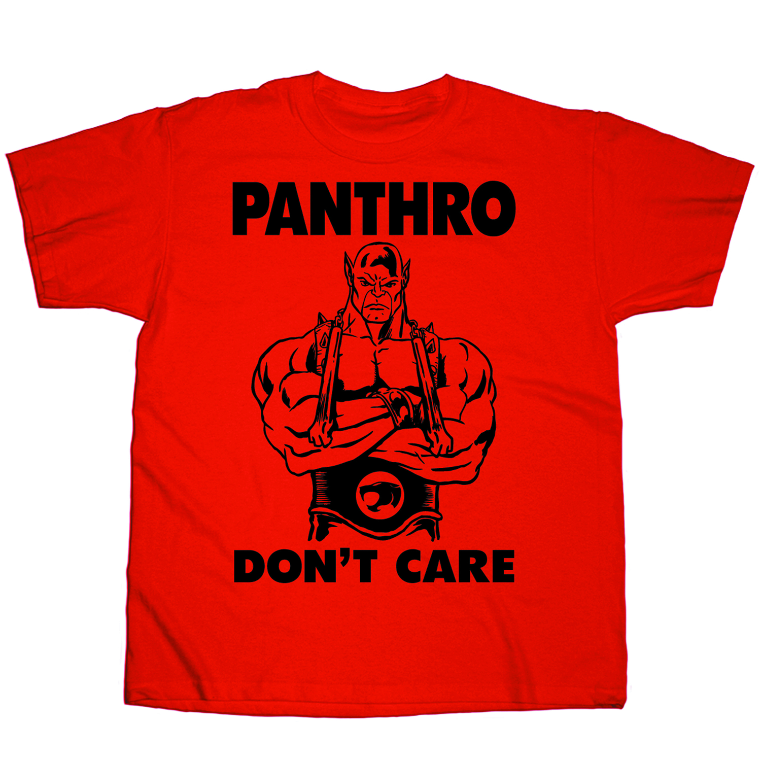 THUNDER CATS PANTHRO DONT CARE RED T/S XL