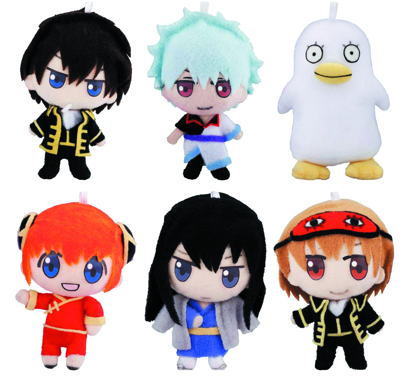 GINTAMA GURUMITZ MINI PLUSH 6PC DS