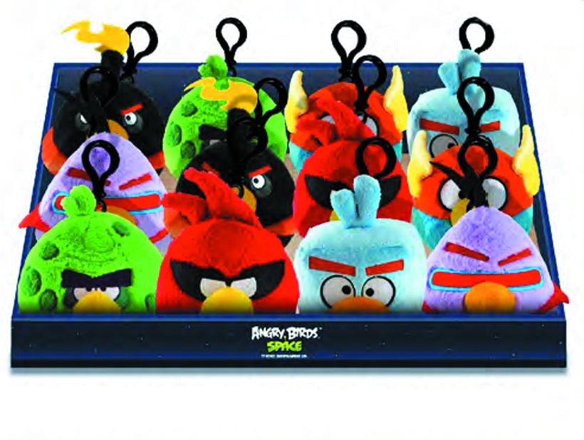 ANGRY BIRDS SPACE PLUSH BACKPACK CLIP 12-PC ASST