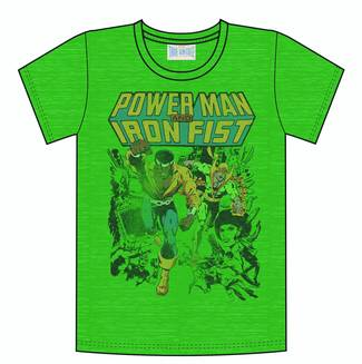 POWER MAN & IRON FIST KELLY HEATHER PX T/S LG