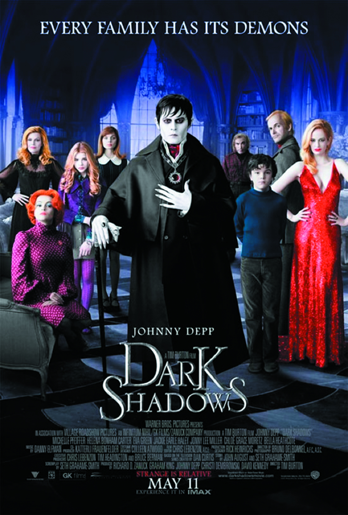 DARK SHADOWS 2012 BD + DVD