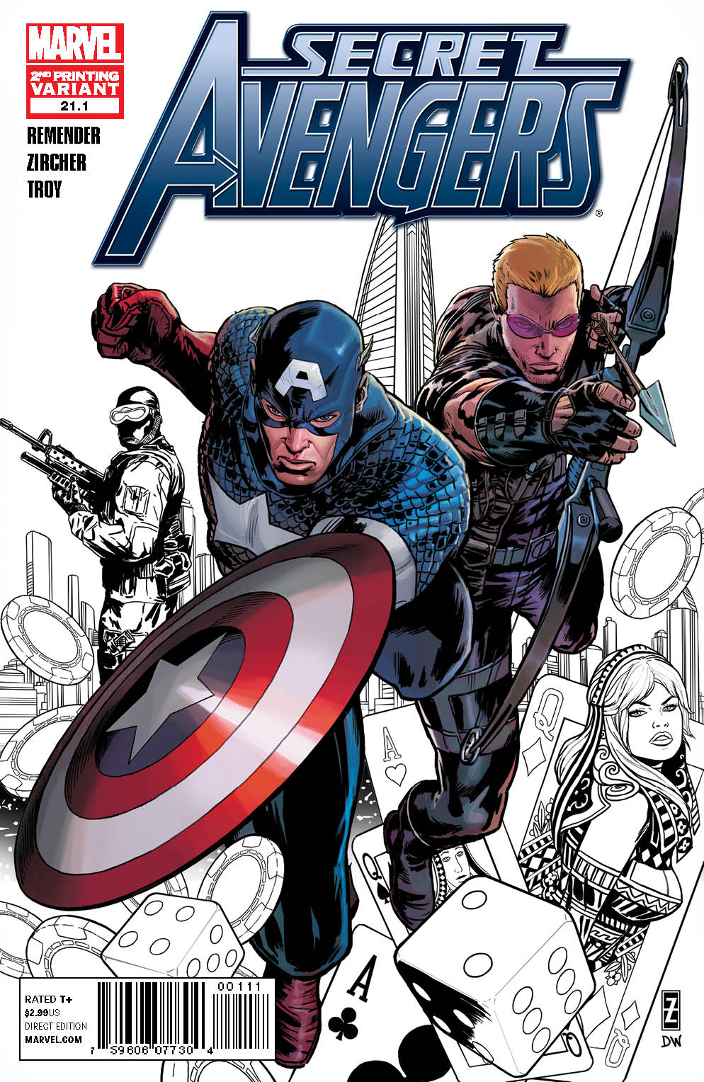 SECRET AVENGERS #21.1 2ND PTG ADAMS VAR