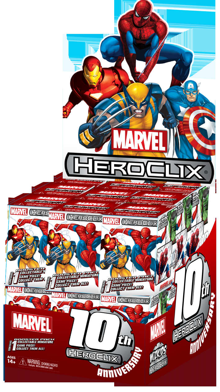MARVEL HEROCLIX 10TH ANNIVERSARY 24 CT DISPLAY