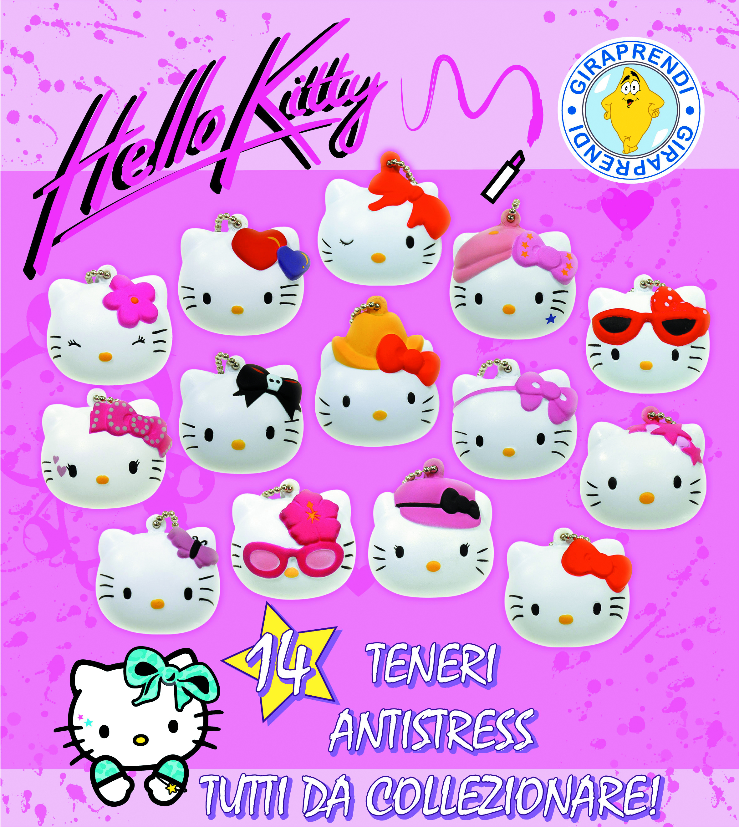 HELLO KITTY SOFTBALL 100MM 100PC ASST