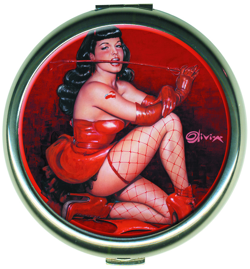 BETTIE PAGE RED DEVIL ROUND COMPACT