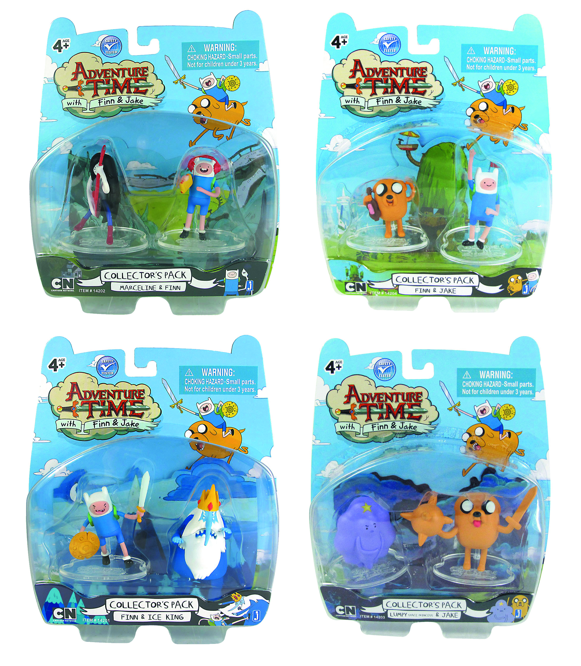 ADVENTURE TIME 2-IN COLLECTIBLE PACK ASST