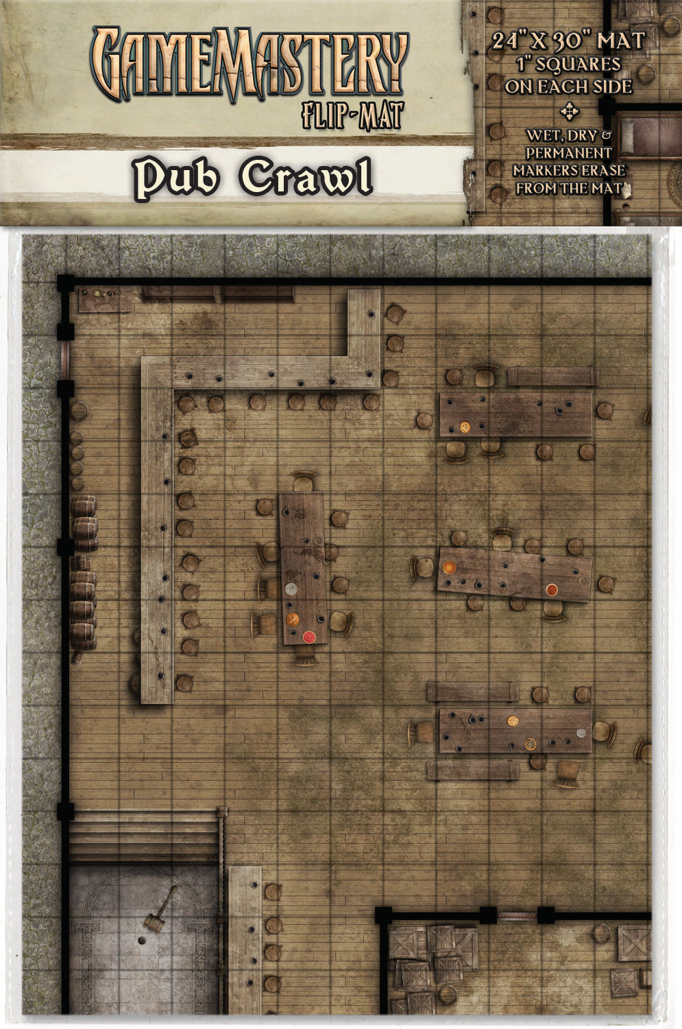 GAMEMASTERY FLIP MAT PUB CRAWL