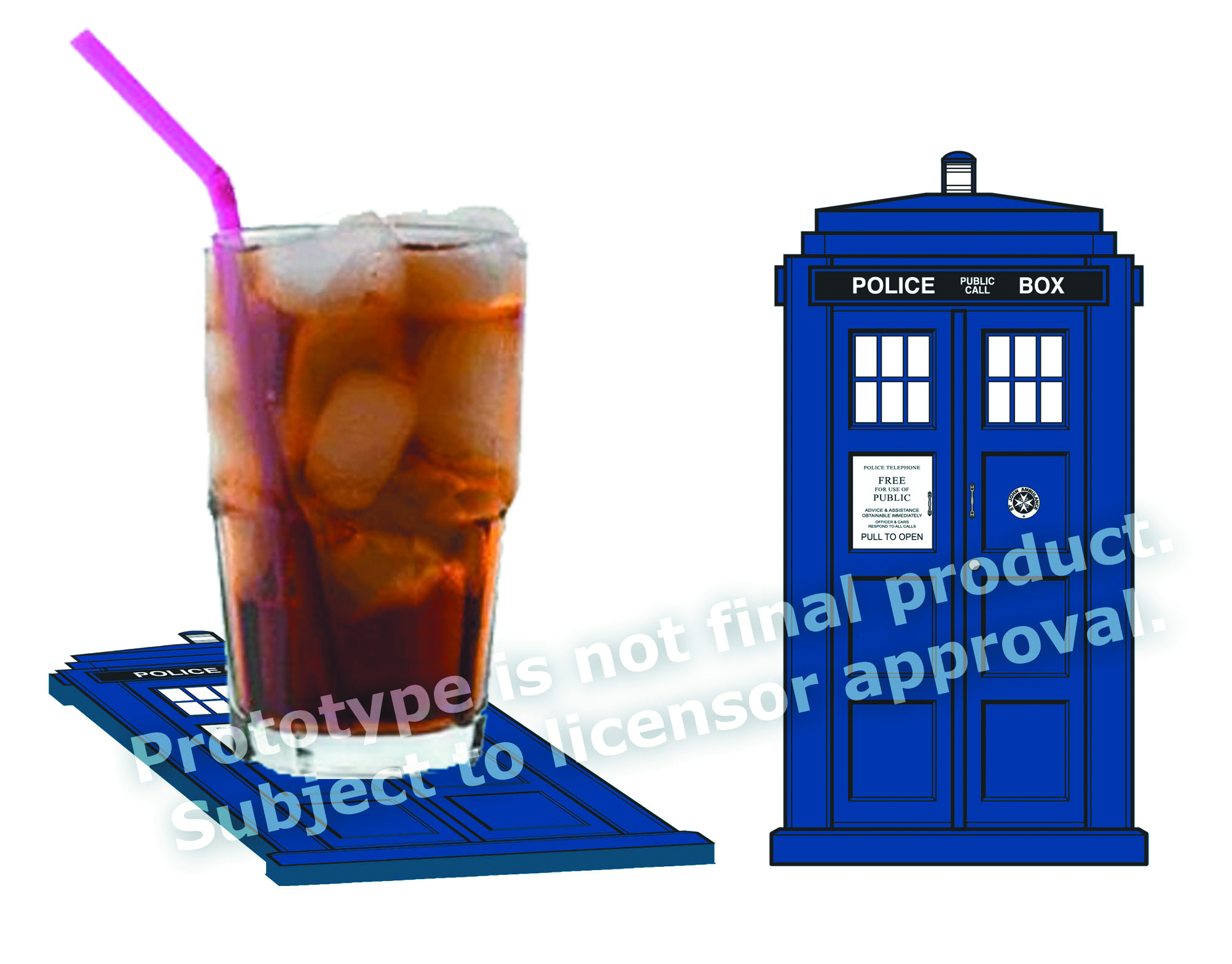 DOCTOR WHO TARDIS COASTER 4-PK