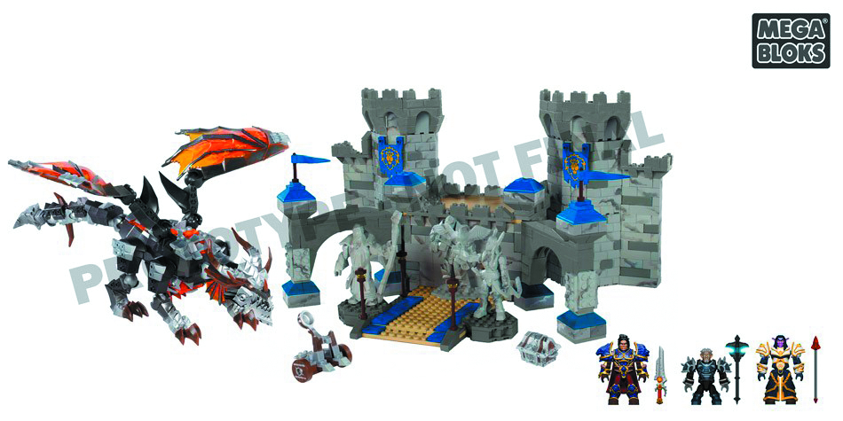 MEGA BLOKS WOW DEATHWING STORMWIND ASSAULT SET