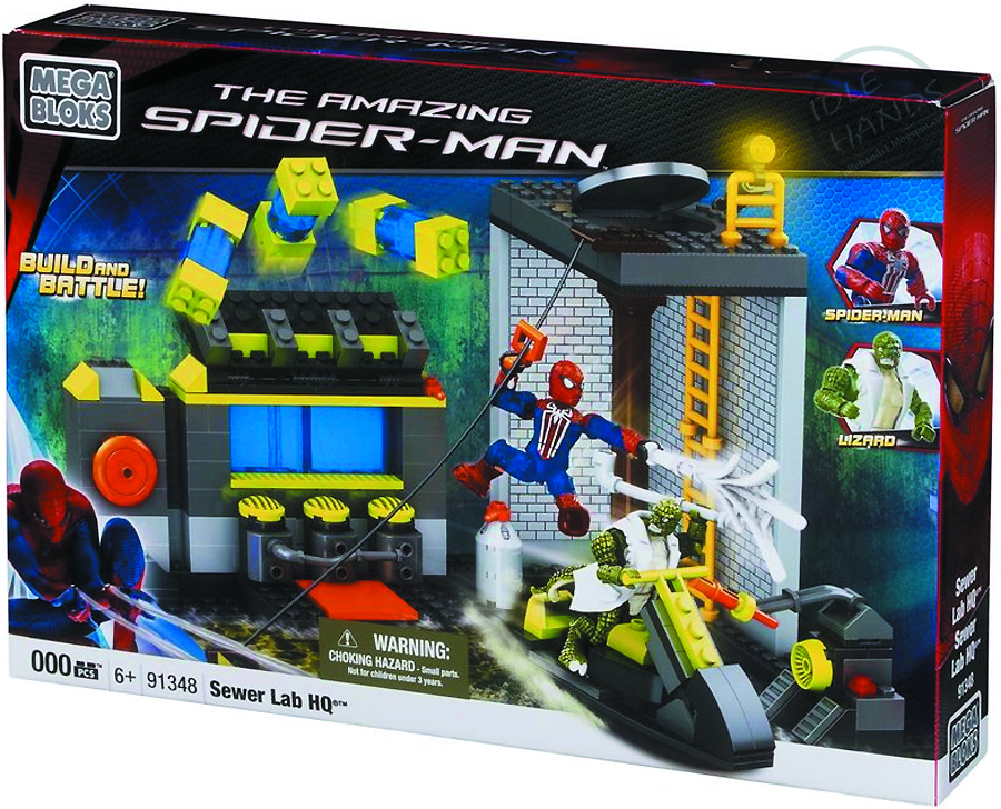MEGA BLOKS SPIDER-MAN 4 SEWER LAB HQ SET