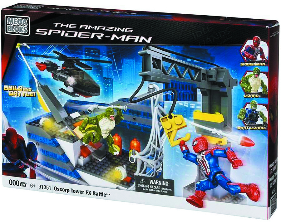 MEGA BLOKS SPIDER-MAN 4 OSCORP TOWER BATTLE HQ SET