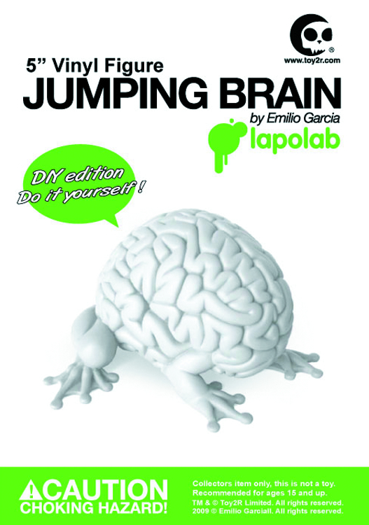 JUMPING BRAIN 5IN VINYL FIG DIY VER