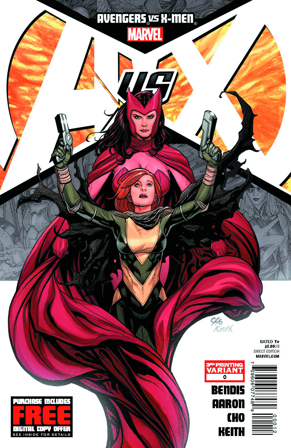 AVENGERS VS X-MEN #0 (OF 12) 3RD PTG CHO VAR AVX