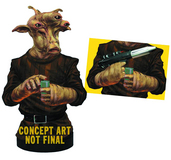 STAR WARS REE YEES DLX MINI-BUST