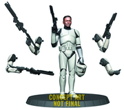 STAR WARS WHITE CLONE TROOPER DLX STATUE