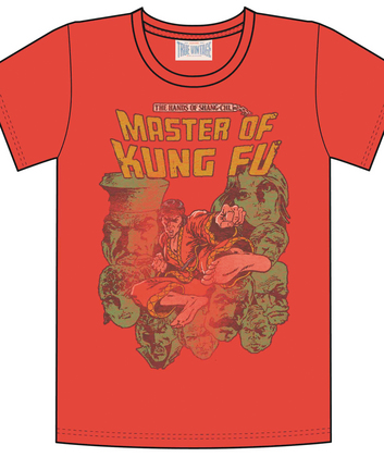 MASTER OF KUNG FU RED PX T/S MED