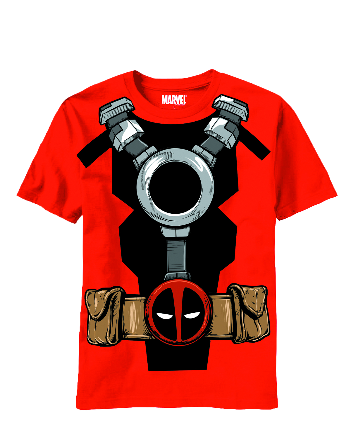 DEADPOOL COSTUME RED T/S LG
