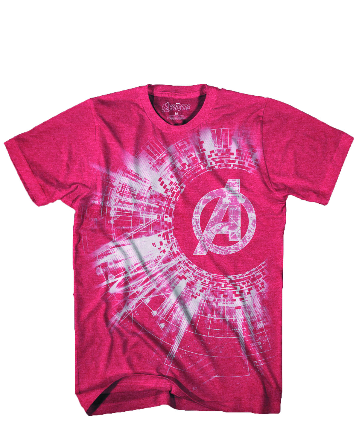 AVENGERS BLACK HOLE RED HEATHER T/S MED