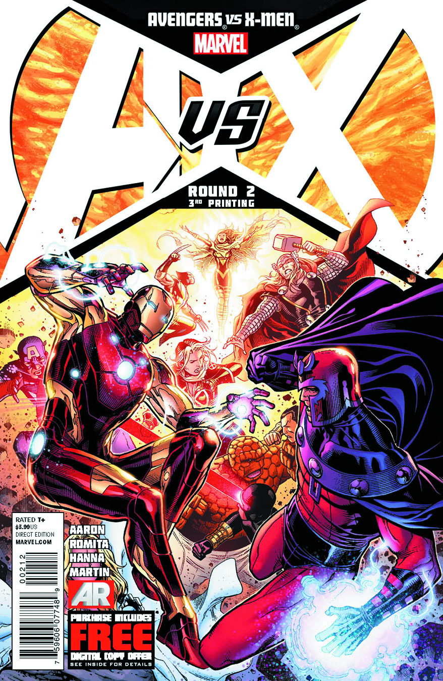AVENGERS VS X-MEN #2 (OF 12) 3RD PTG CHEUNG VAR AVX