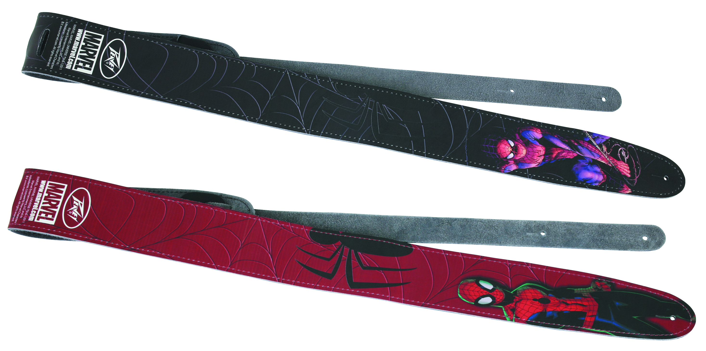 SPIDER-MAN RED LEATHER GUITAR STRAP