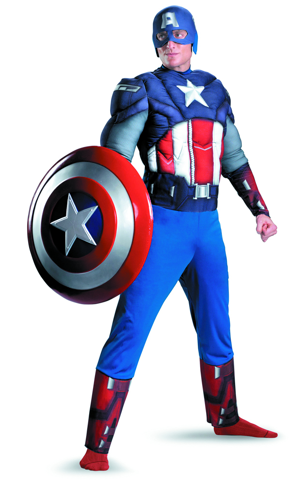 AVENGERS CAPTAIN AMERICA MUSCLE COSTUME XL