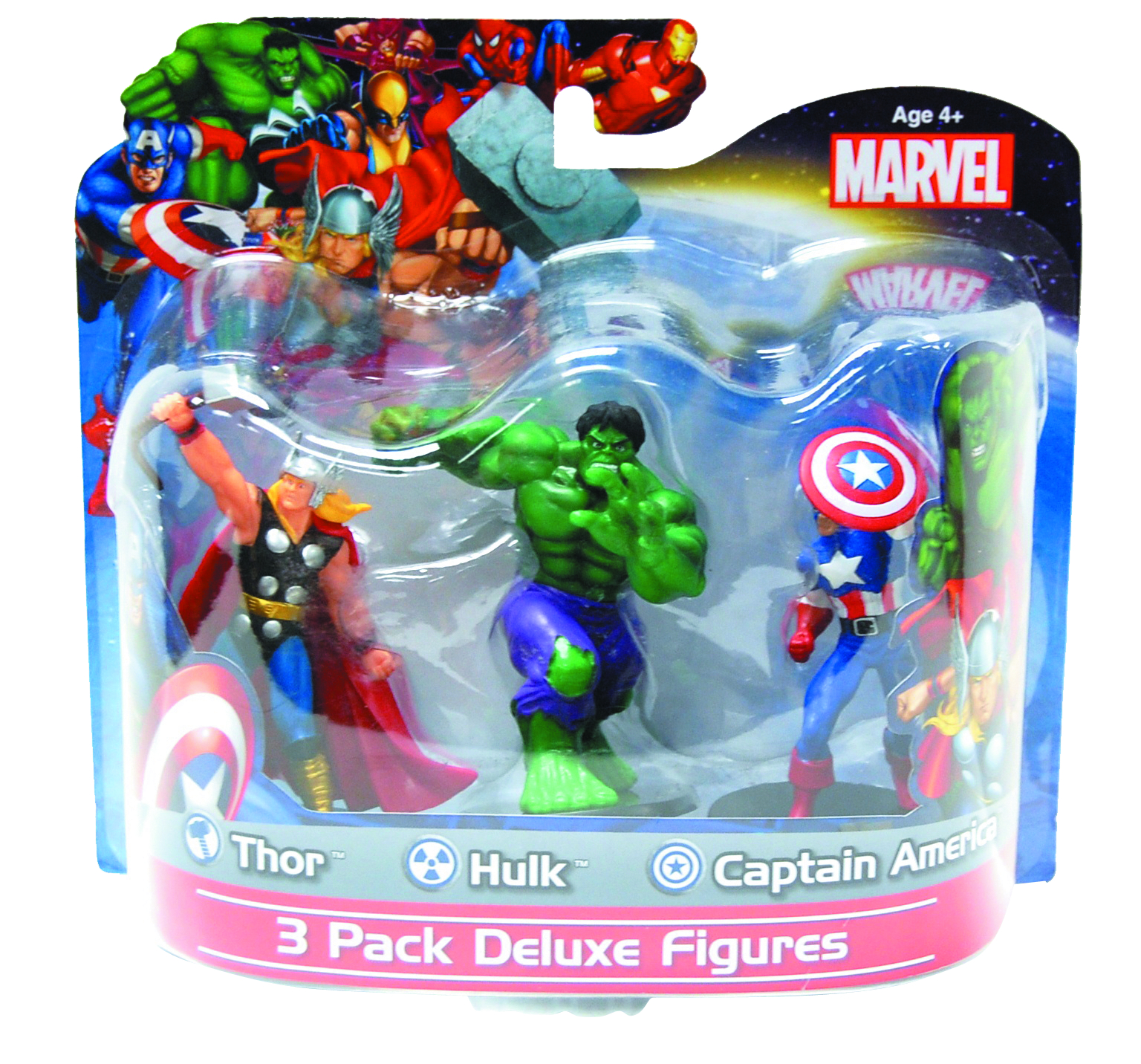 MARVEL CLASSIC 3 PACK 4 INCH PVC FIGURINE ASST