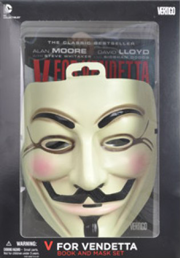 (USE SEP148025) V FOR VENDETTA BOOK AND MASK SET