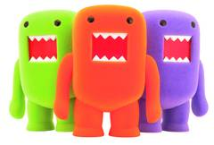 4 INCH DOMO FLOCKED VINYL FIGURE ORANGE SODA