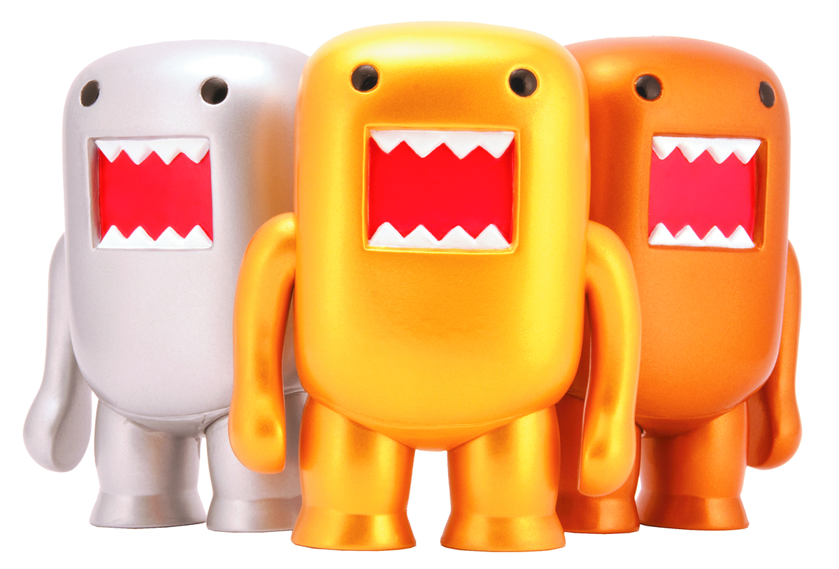 4 INCH DOMO METALLIC VINYL FIGURE GOLD