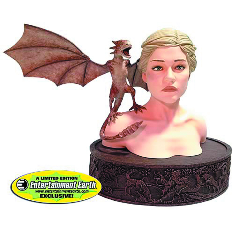 GAME OF THRONES DAENERYS W/VISERION BUST