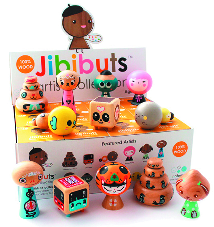 JIBIBUTS WOODEN MINI FIG 12PC BMB DS ARTIST SER 1
