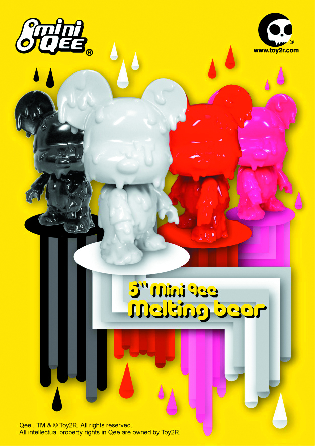 MELTING BEAR DIY MINI QEE 5IN VINYL FIG RED VER
