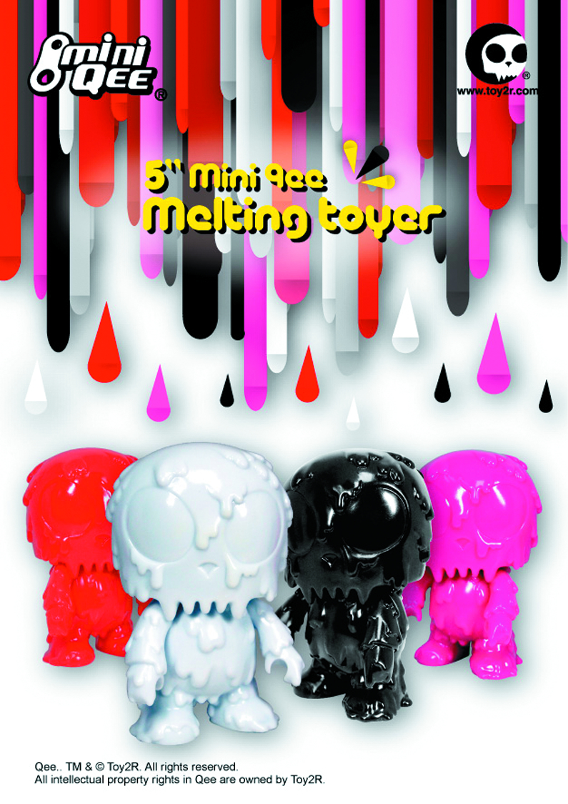 MELTING TOYER DIY MINI QEE 5IN VINYL FIG HOT PINK VER