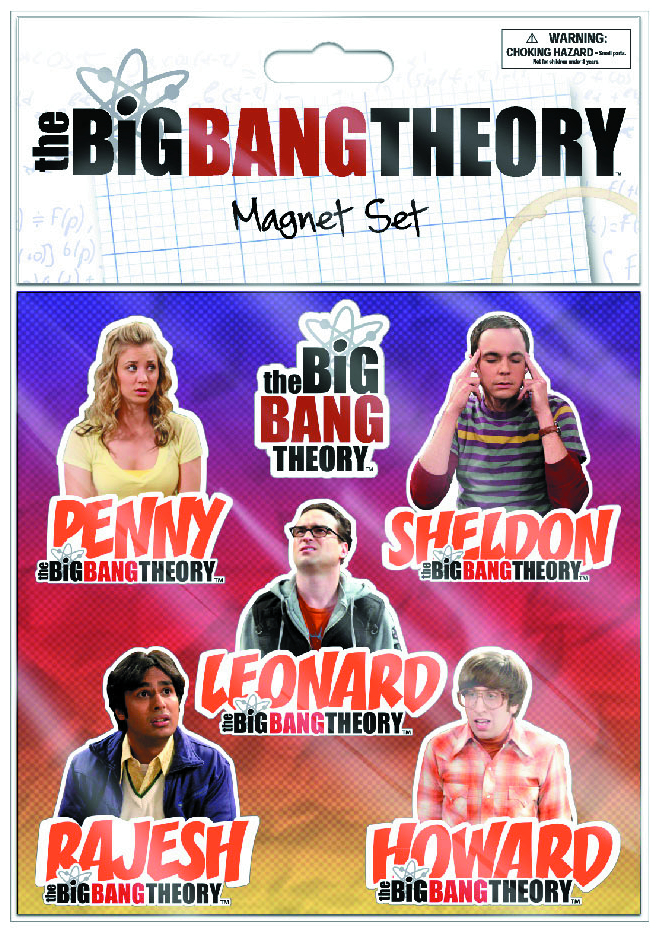 BIG BANG THEORY FLAT MAGNET 6-PK 12-PC ASST