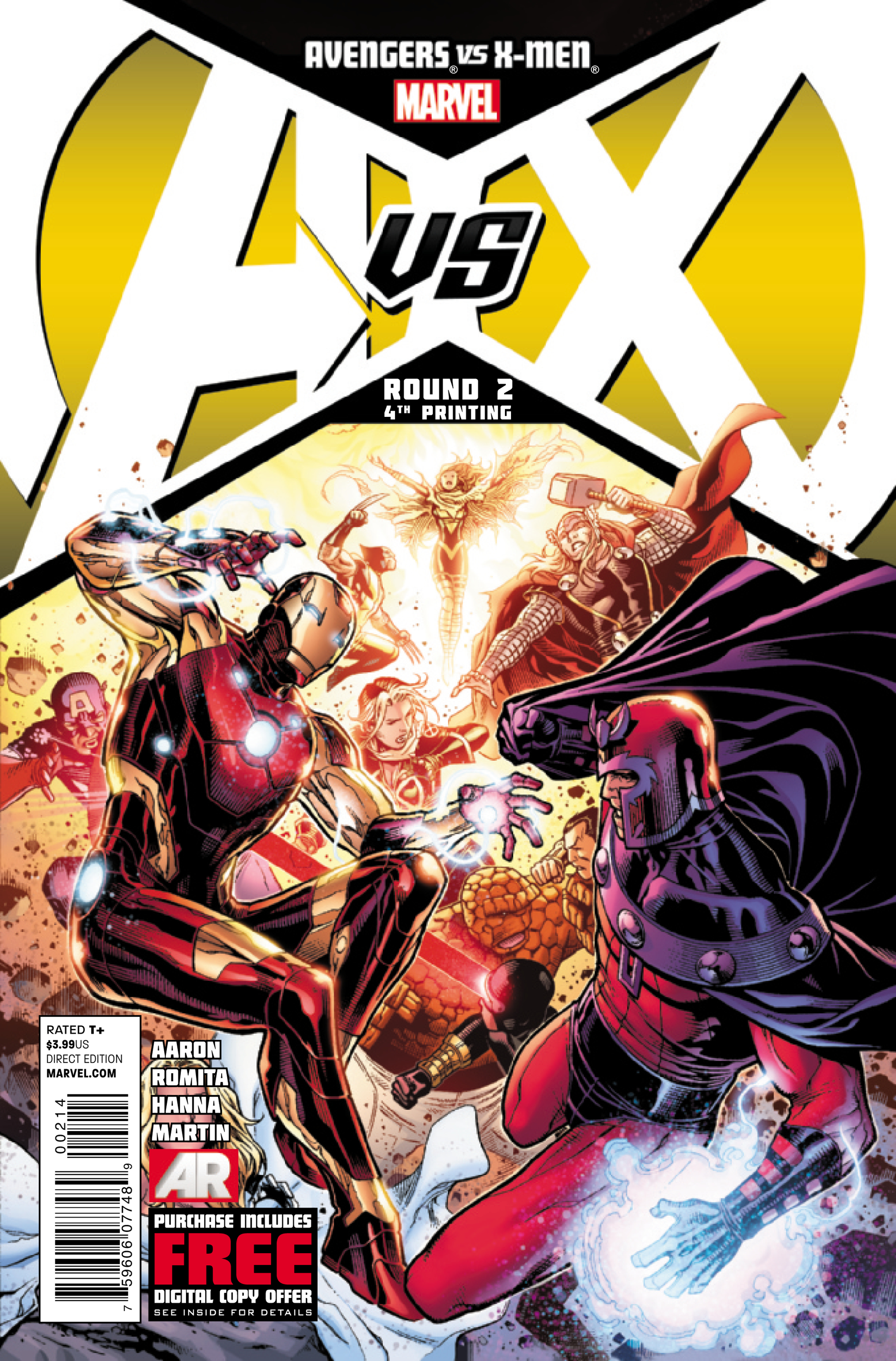 AVENGERS VS X-MEN #2 (OF 12) 4TH PTG CHEUNG VAR AVX