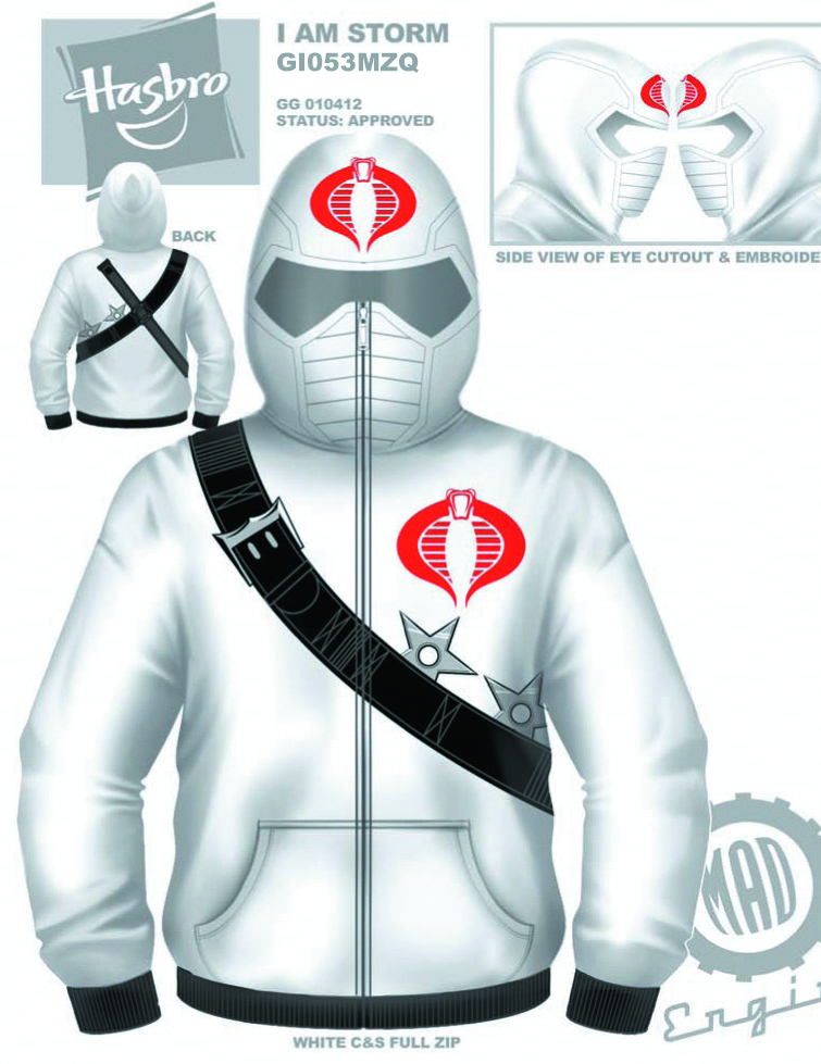 GI JOE STORM SHADOW COSTUME HOODIE MED