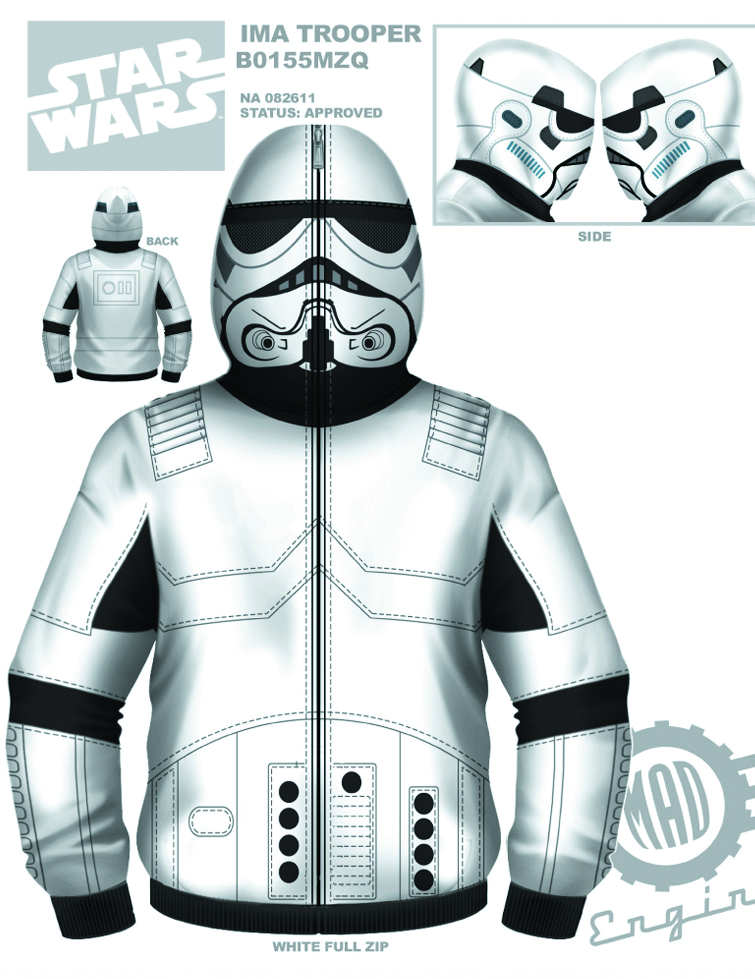 SW IM A TROOPER COSTUME HOODIE SM