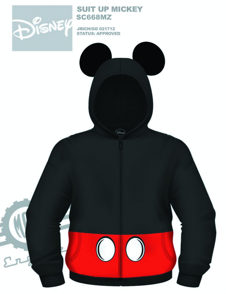 DISNEY SUIT UP MICKEY COSTUME HOODIE MED