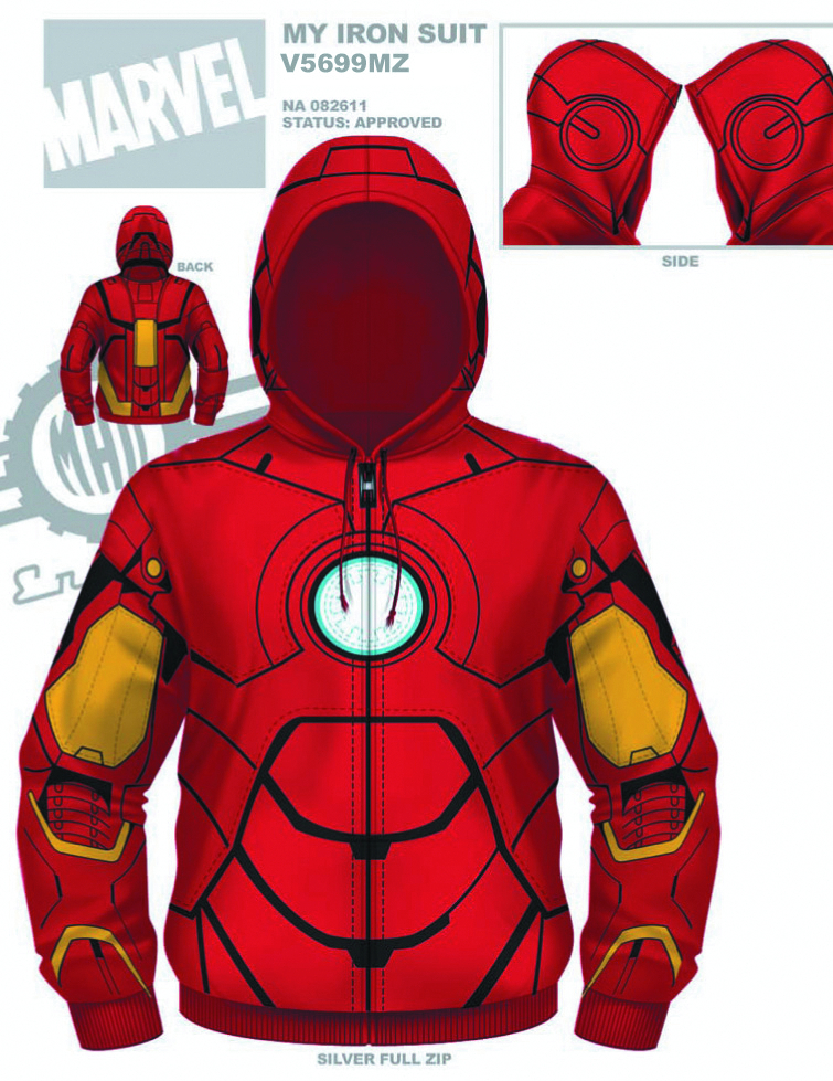 IRON MAN MY IRON SUIT ZIP-UP HOODIE SM